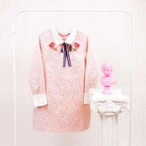 Sister Jane Mini Dress with Embroidery & Bow